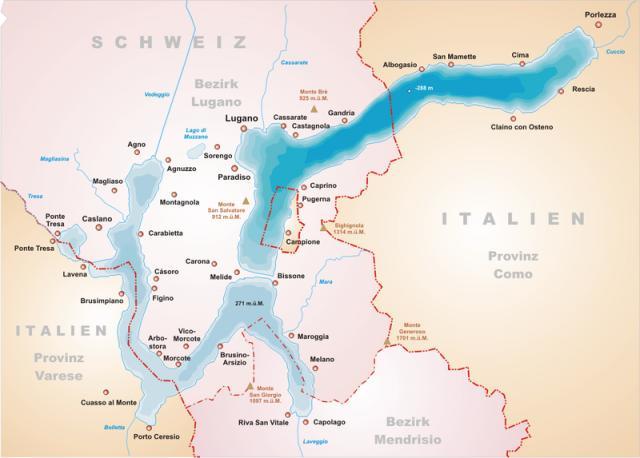 Campione d'Italia, Itália, na Suíça.
