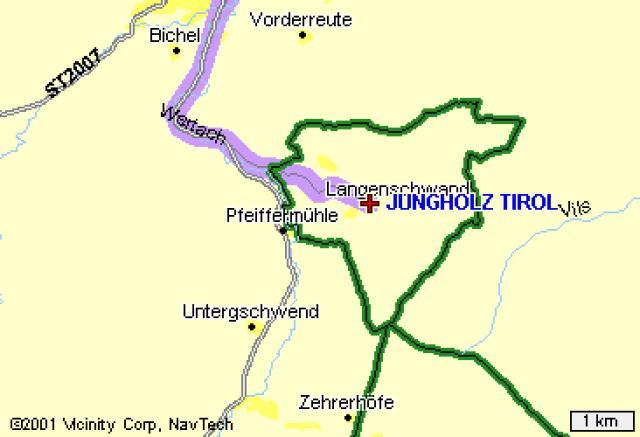 Jungholz, Áustria, na Alemanha.