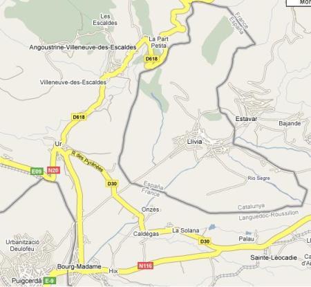 Llivia. Испания внутри Франции.