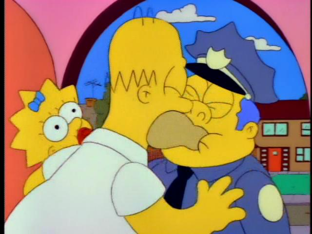 Homer and Chief Gorgory