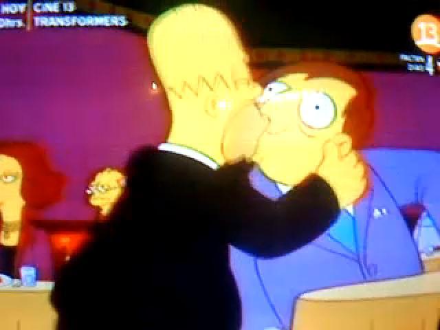 Homer and Mayor Diamond