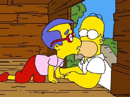 Homer and Milhouse