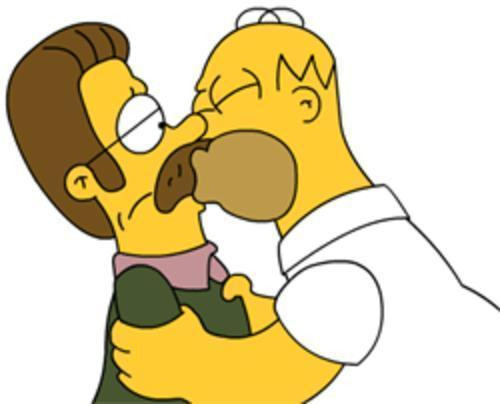 Homer und Flandern