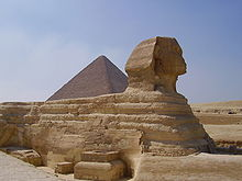 Sphinx de Gizeh ... 20 Mts.