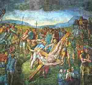Crucifixion of San Pedro