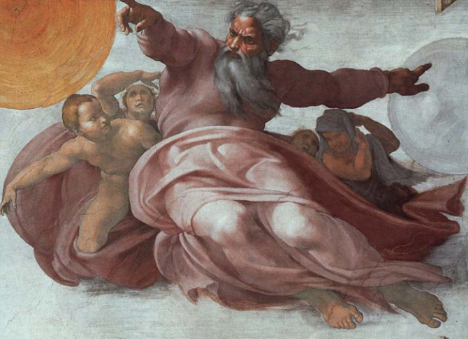 The creation of the sun and the moon