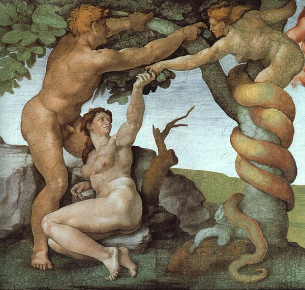 The fall of man, original sin and expulsion from paradise