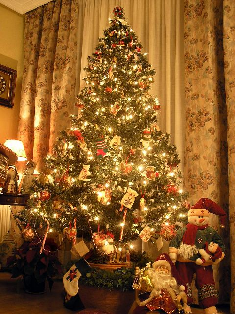 Artificial traditional Christmas tree