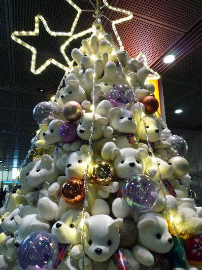 Árvore de Natal de boneco de neve