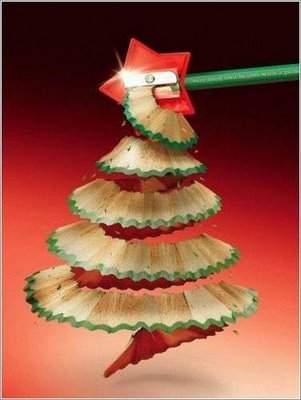Árvore de Natal de lápis