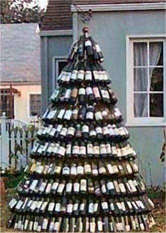 Árvore de Natal de vinho