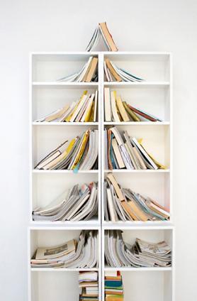 Christmas tree bookcase