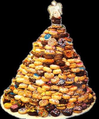 Christmas tree donuts