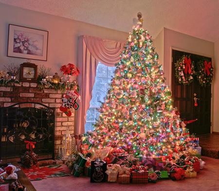 Christmas tree muticolor