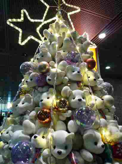 Christmas tree of dolls