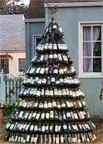 Christmas tree of wines
