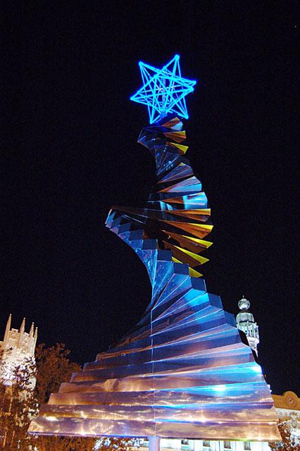 Escultura de árvore de natal