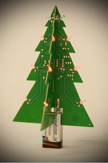 PC card Christmas tree