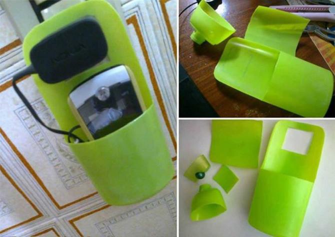 मोबाइल चार्ज गर्नको लागि शैम्पू बोतललाई पुन: प्रयोग गर्नुहोस्