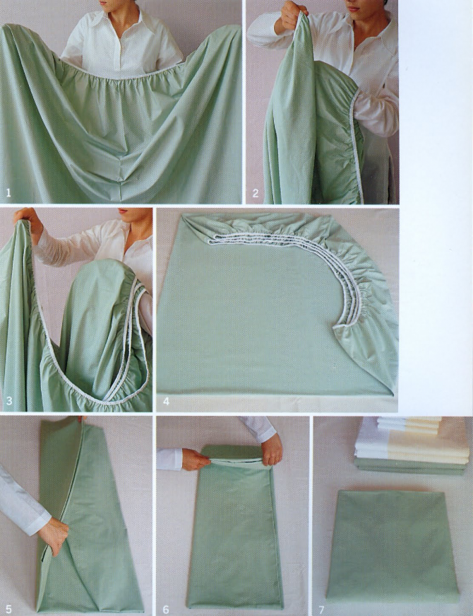 Steps to easily fold the bottom sheet