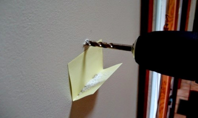 Use post-its to collect dust or sawdust when drilling something