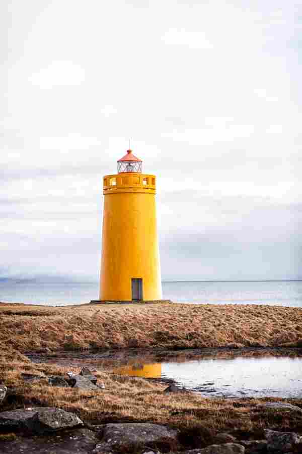 Lighthouse in Keflavik (Iceland)