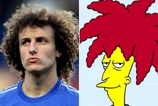 David Luiz och sekundärskådespelaren Bob