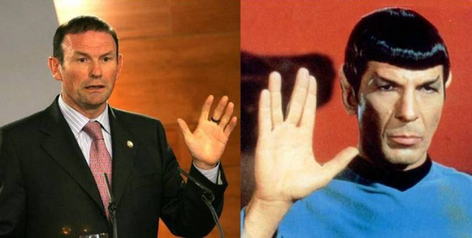 Juan José Ibarretxe y el Dr. Spock