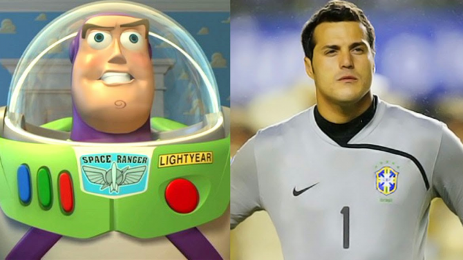 Julio César and Buzz Lightyear