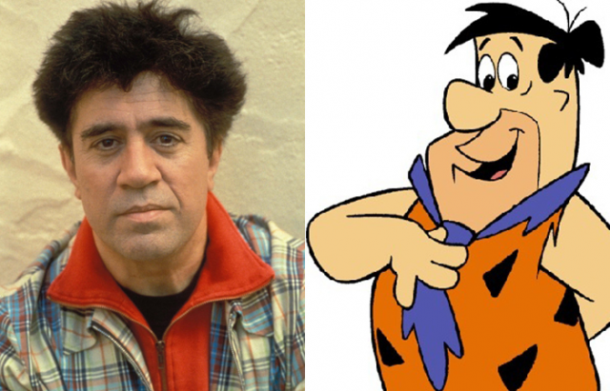 Pedro Almodóvar and Pedro Flintstones