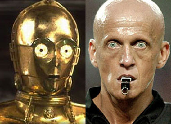 Pierluigi Collina and C3PO