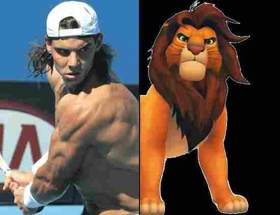 Rafa Nadal and the Lion King
