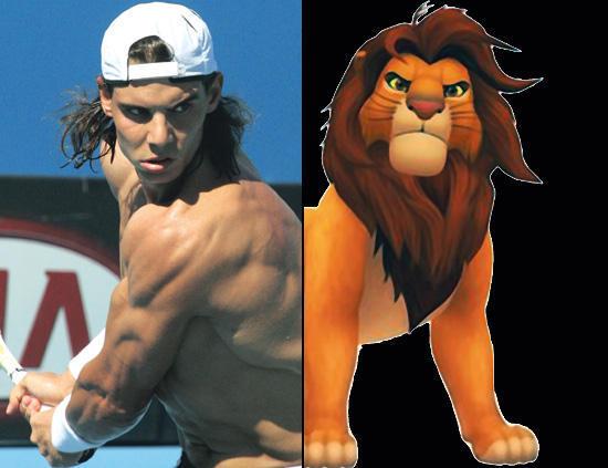 Rafa Nadal och lejonkungen