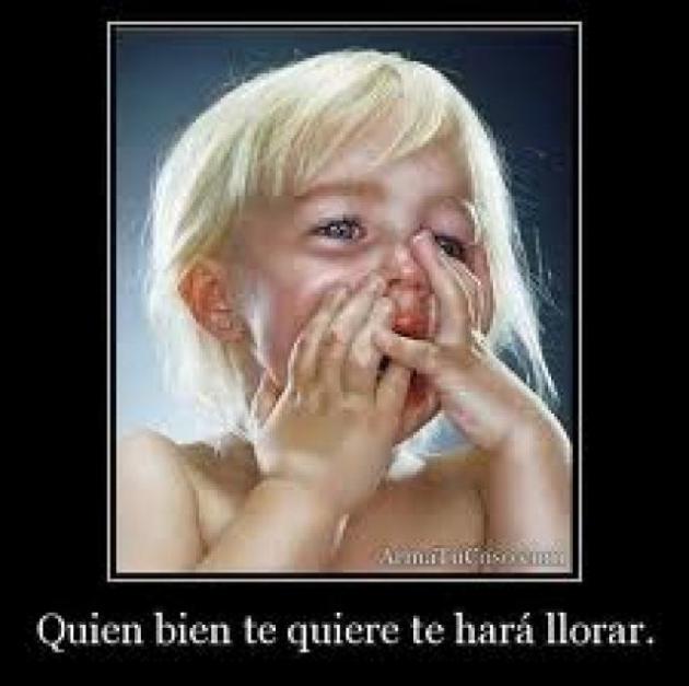 Quem te ama bem, vai fazer você chorar