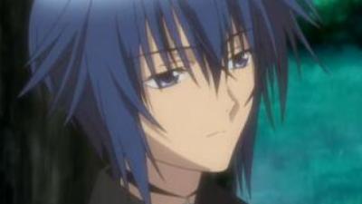 Anime Jungen mit schöneren blauen Haaren