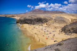 Beach of El Papagayo de Yaiza (Lanzarote)