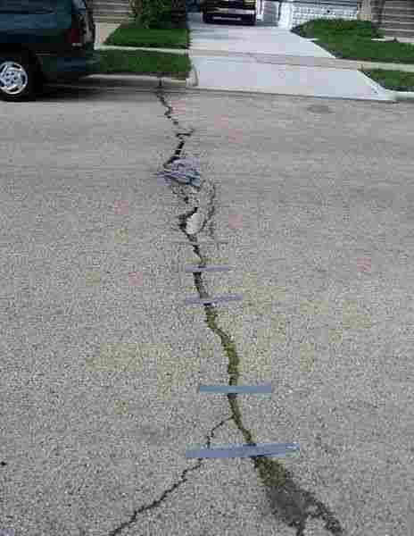 道路を修復する