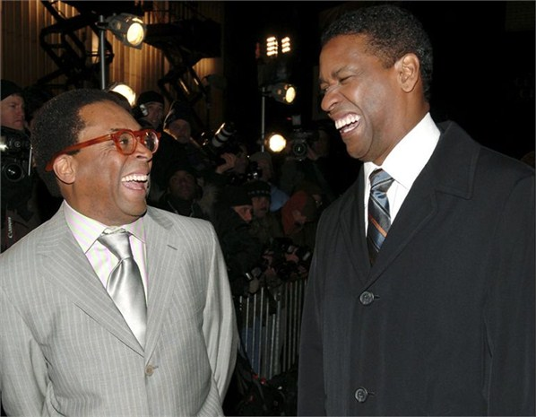 Denzel Washington and Spike Lee