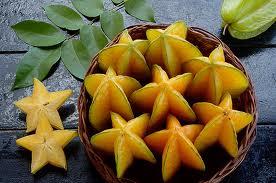 Carambola or star fruit