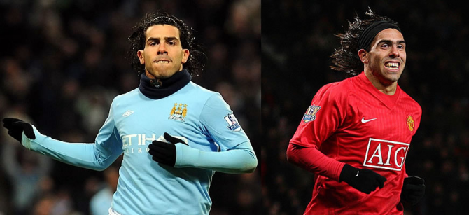 Carlos Tevez (Manchester United - Manchester City)