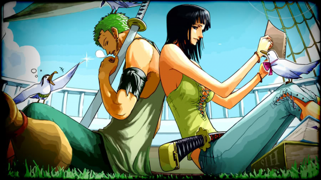 Fox and Robin (One Piece)