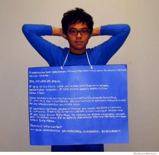 Modrá obrazovka systému Windows