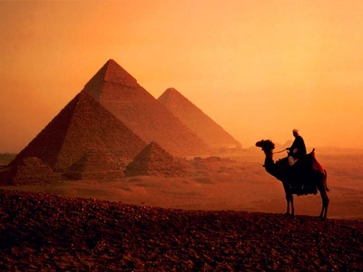 PYRAMIDS OF GIZEH (EGYPT)