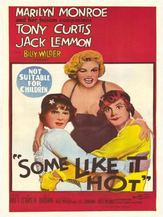 Jack Lemmon e Tony Curtis (alguns gostam quente)