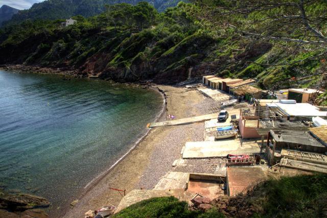 Es Port d'Es Canonge beach in Banyalbufar (Mallorca)