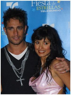 Paola Rey e Michel Brown