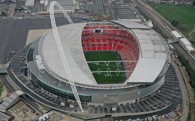 Wembley - 90,000 spectators