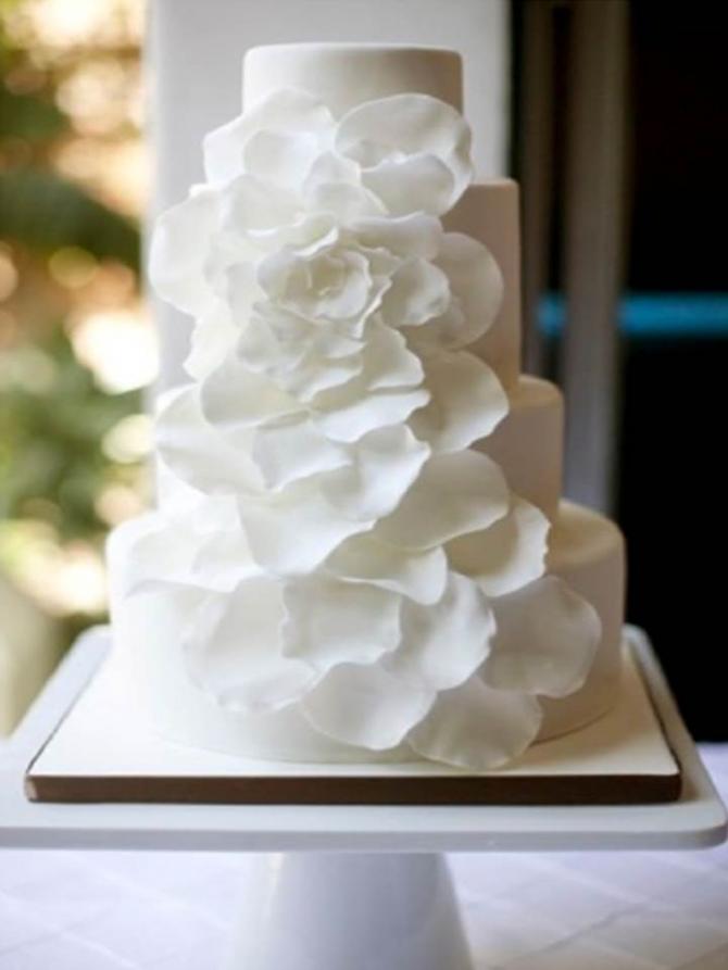 Свадебный торт, Простой белый торт