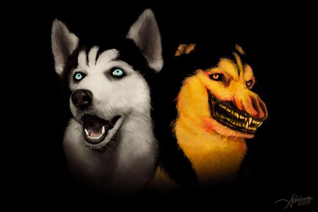 Lächeln Hund