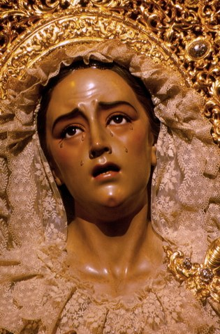 Virgin of pain and mercy